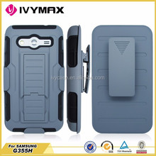 3 in1 clip robot for samsung galxy core 2 funda clip combo holster