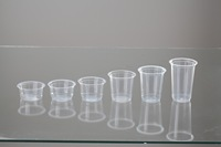 Plain plastic cups 100ml-300ml