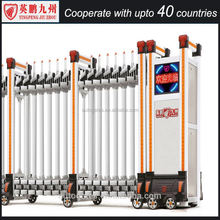 Ground Parking Lot Entrance Automatic Fence Collapsible gate