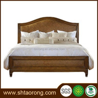 Durable solid wood double bed