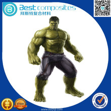 BST Composite materials lower price life size hulk toys made resin and fiber glass