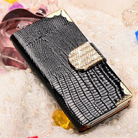 Diamond Shining PU Leather Smart Cover for Iphone Wallet Case