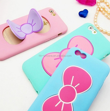 Hello Kitty Style For iPhone 6 BowKnot Cover Shell with Holder