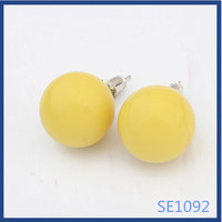 2016 African colorful ball shaped daily wear new look hot fashion wholesale cheap cute earrings