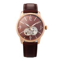 tourbillon mechanical skeleton watch with super luminous timepiece