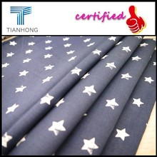 100 Cotton Printed fabric poplin/ little star printed fabric /white star blue Bangladesh