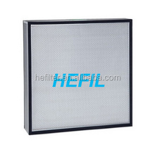 GI frame and SUS304 all round flange h14 hepa filters for laboratory