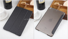 Portable smart cover leather case for ipad mini 2 with 3 foldsHH-IPM01(9)