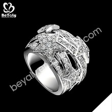 silver jewelry ring wholesale beautiful man ring with ruby