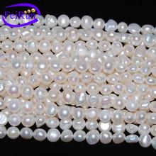 PZJ28 natural purple freshwater flat pearl string