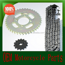 OEM motorcycle bajaj ct100 chain sprocket with high quality