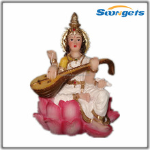 Saraswati India God Sculpture Craft