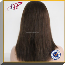 """TOP quality Jewish wig,4# color 10-28""""inch 100% European virgin human hair wig with silk top Bleached konts"""