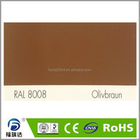 Powder paint interior glossy smooth RAL8008 olive brown