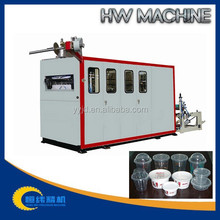 Highly efficient vacuum forming machines for cup forming/blanking/stacking