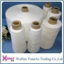 1.67kg/cone paper yarn in China/virgin polyester spun yarn