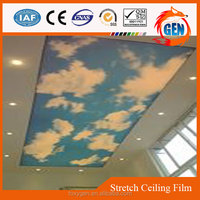 china factory offering good looking interior decorations utility pvc soft printed ceiling film