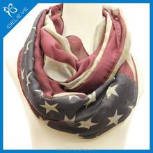 Hot-selling customizing America flag printed scarf