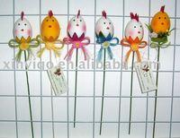 5 Pack Easter Egg Picks Handmade Styrofoam Artifical Decoration for 2015