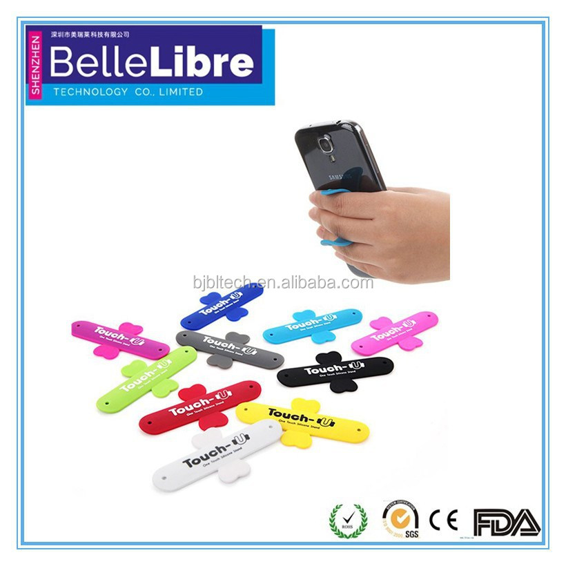 Rubber cell phone holder with funny cell phone holder for desk