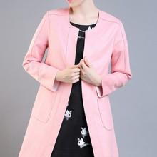 2015 New Fashion 100% Polyester OEM Custom Elegant Korean Women Trench Coat