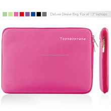 Soft neoprene 13.3inch laptop sleeve for wholesale with zipper in pink color