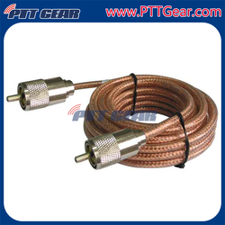 Single Phase RG8X PL-259 Radio Antenna Cable Assembly , 140222-42