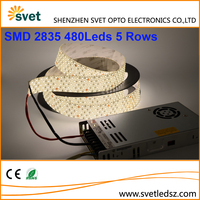 2835 5 Rows 480Leds Flexible Led Strip More Evenly Distributed Light than Quad Row IP65 Silicone Drip Waterproof