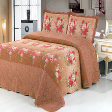 Beautiful Flower pattern Design Bedspreads cotton Bedroom Quilt
