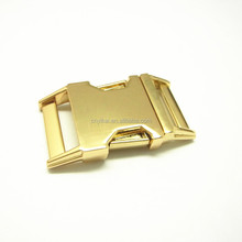3/4 curved gold metal side release buckle/metal quick release buckle/ 20mm metal buckle wholesale