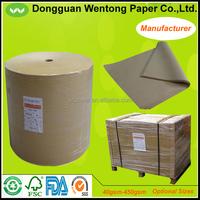 Brown virgin kraft paper 150gsm