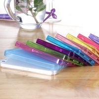 2014 Ultra Slim Crystal Clear Soft TPU Case For iphone5 5s Factory Price