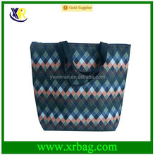 manufacturer produce waterproof full print nylon 600D tote shopping bag