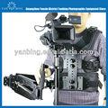 Profissional steadicam m-35 metal estabilizador de câmera com fibra de carbono trenó e dupla merlin 1-15kg braço de carga