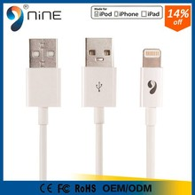 100% original 120cm MFI certified 8 pin usb data cable for Iphone
