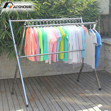 Outdoor clothes laundry hanger dryer,Heavy duty movable laundry rack,Stainless steel no installation clothes hanger stand