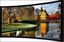 Black velvets 87mm Aluminum frame curved screen/3D Curved fixed frame projector screen