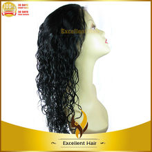 High Quality No Tangle Malaysian Human Hair Lace Front Wig Virgin Loose Curly