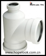 Hot sale PP silence drainage plastic pipe fitting 110*75mm bottle shaped tee