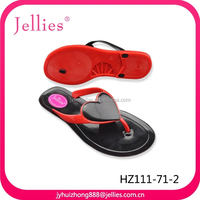 2015 fashion colourful pvc slippers crystal pvc jelly footwear for women