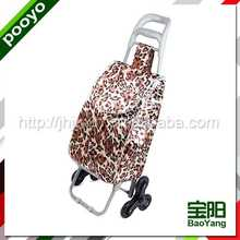 portable luggage trolley cart durable aluminium airport luggage trolly