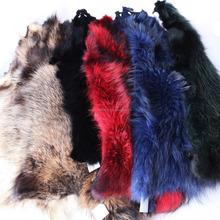 wholesale raccoon fur, fur trim for hood, garment use, genuine fur leather
