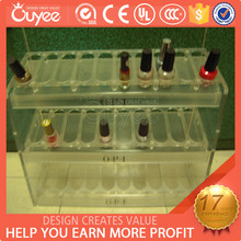 Customized nail bar meubles / nail display showcase / plastic counter display for Nail Beauty Shop Kiosk