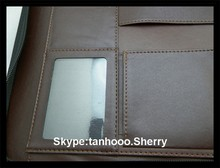 a5 leather ring binder,A4 leather ring binder,a3 leather ring binder personalized leather folder for interview wholesale 3 ring