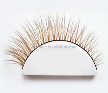 Wholesale Handmade Winged false eyelashes Natural Long eye lashes individual false eyelashes