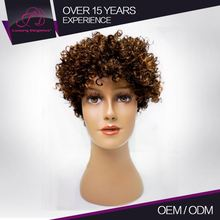Factory Price Real Virgin Brazilian Short Afro Wigs