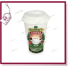 Reusable double wall plastic starbucks white coffee mug with customized logo,sublimation mug