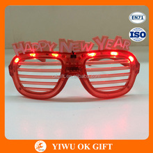 Wholesale Design Red LED Light Sunglasses For Happy New Year
