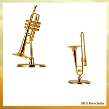 Goldplated Mini Musical Instrument Trombone Craft DD 235