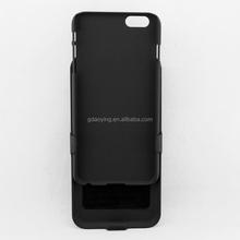 "Black 2 in 1 Black Belt Clip Holster Kickstand Hard Cover Case For iPhone 6 4.7"""